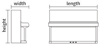 立式琴尺寸对照表